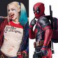 Arlequina (Margot Robbie) e Deadpool (Ryan Reynolds) têm uma coisa em comum: o amor pela zoeira