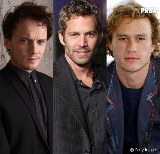 Anton Yelchin, Paul Walker e Heath Ledger faleceram antes de terminarem de rodar suas produções no cinema