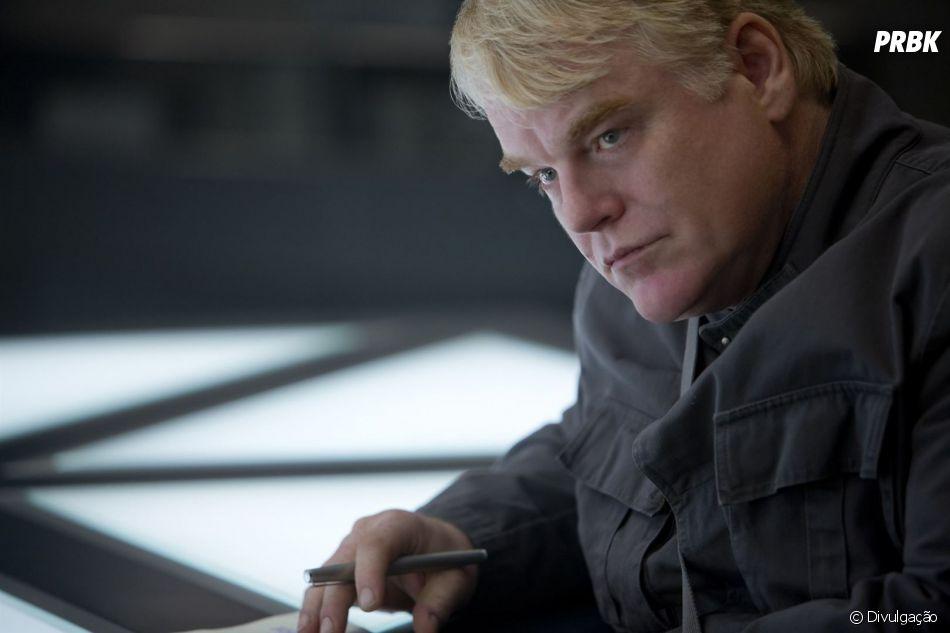 """Philip Seymour Hoffman faleceu em fevereiro de 2014 e também teve que ser recriado digitalmente no último filme da franquia """"Jogos Vorazes"""""""