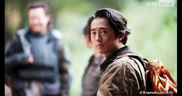"Glenn(Steven Yeun) reencontra sua esposa em ""The Walking Dead"""