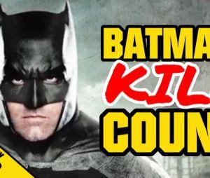"De ""Batman Vs Superman"": canal no Youtube contabiliza quantos inimigos personagem de Ben Affleck matou no filme"
