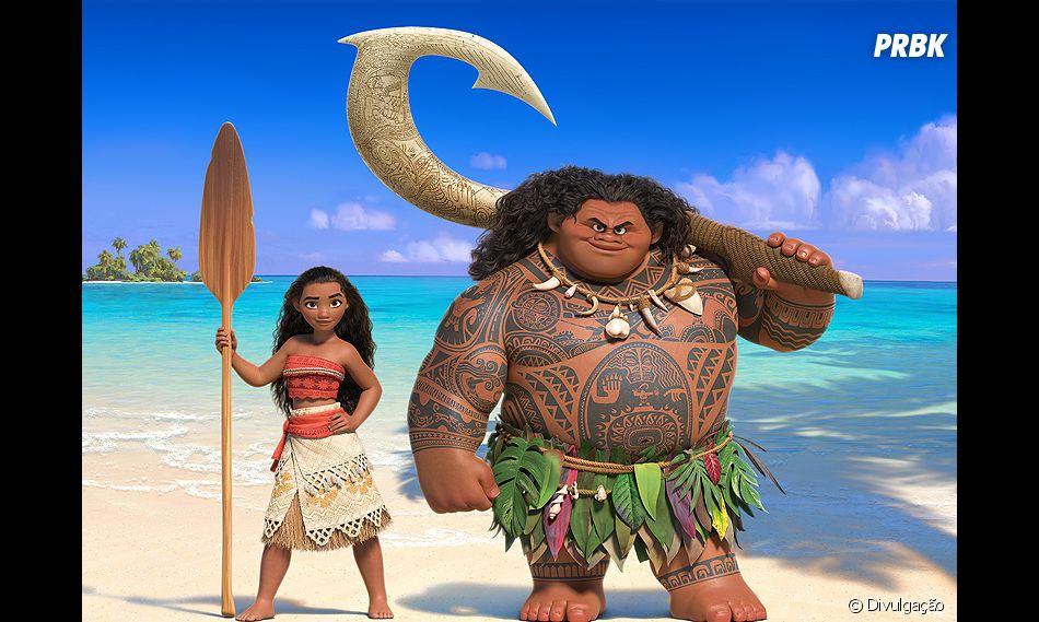 Em sua missão, Moana vai ter a ajuda de Maui, um Deus
