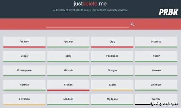 """O site """"Just Delete Me"""" facilita sua vida para cancelar contas de serviços da internet que você nao usa mais."""