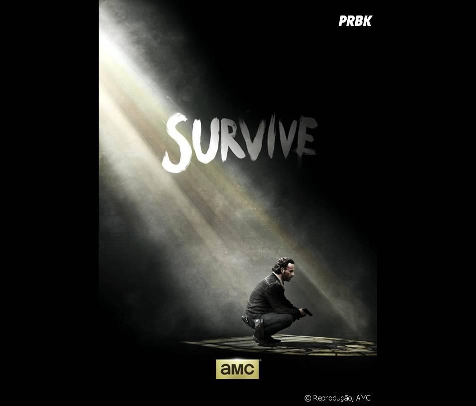 """Novo pôster de """"The Walking Dead"""", na quinta temporada, Rick (Andrew Linconl) será um dos sobreviventes!"""