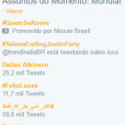 No Twitter, hashtags como #SelenaEndingJustinParty figurou entre os Trending Topics mundiais