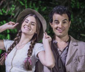 """Em """"Êta Mundo Bom!"""", Mafalda (Camila Queiroz), Zé dos Porcos (Anderson di Rizzi) e os motivos para os dois ficarem juntos na novela!"""