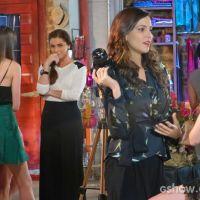 """Na novela """"Em Família"""": Clara vê Marina e Vanessa juntas e fica com ciúmes!"""