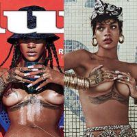 Rihanna faz topless e posa sem calcinha para revistas! Qual foto você prefere?!
