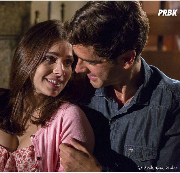 """Em """"Haja Coração"""": Felipe (Marcos Pitombo) termina com Shirlei (Sabrina Petraglia) por causa de Jéssica (Karen Junqueira)!"""