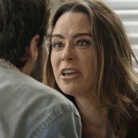 """Novela """"Haja Coração"""": Bruna (Fernanda Vasconcellos) surta e briga com Giovanni por causa de Camila!"""