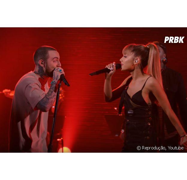 """Ariana Grande e Mac Miller fazem performance inédita do single """"My Favorite Part"""""""