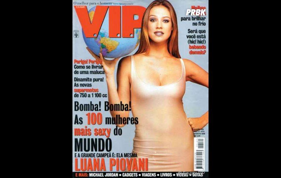 A primeira votação da VIP para eleger a mulher mais sexy do mundo pela VIP rolou em 1998, com Luana Piovani assumindo o posto