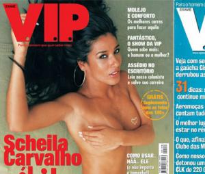 Scheila Carvalho foi a mulher mais sexy do mundo pela VIP por três anos consecutivos: 1999, 2000 e 2001