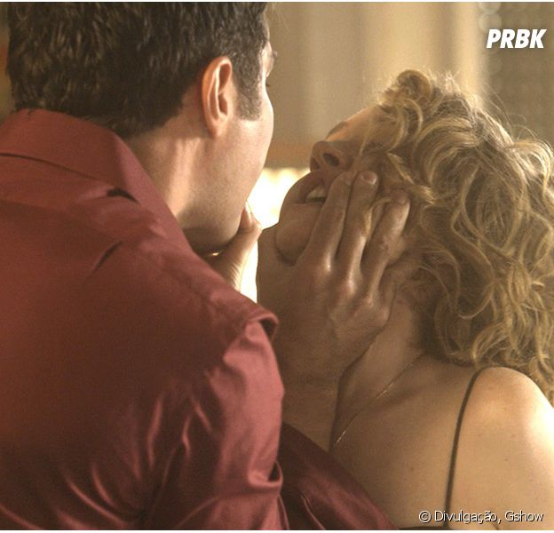 """Em """"A Lei do Amor"""",Vitória (Camila Morgado) leva bofetada deCiro (Thiago Lacerda)"""