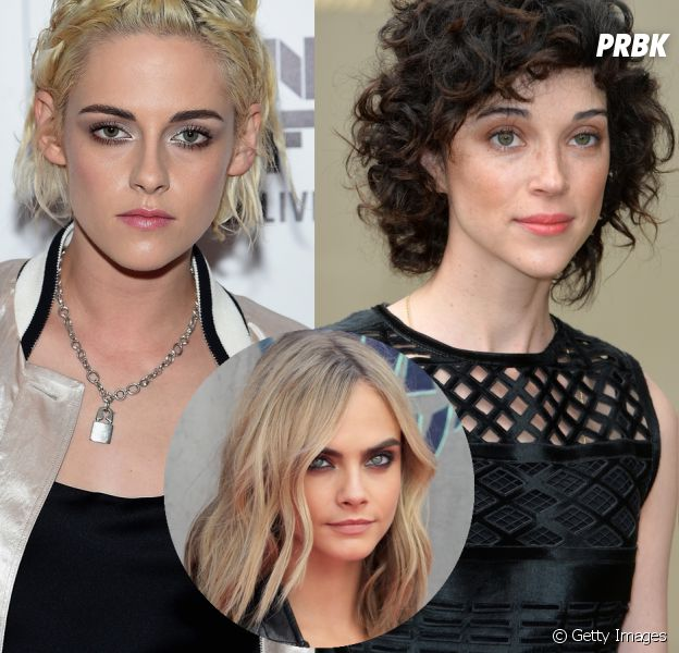 Kristen Stewart e St. Vincent, ex-namorada de Cara Delevingne, são só amor!