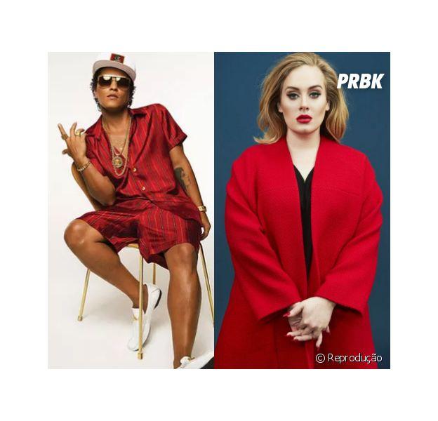 Bruno Mars chama Adele de diva e diz que gostaria de trabalhar com a cantora em um novo single