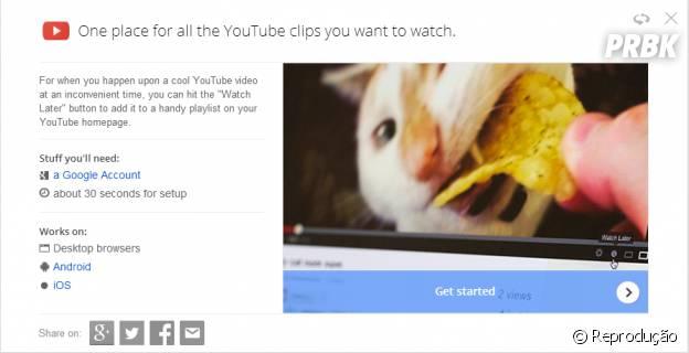 """""""Google Tips"""" ensina a salvar os vídeos favoritos no YouTube"""