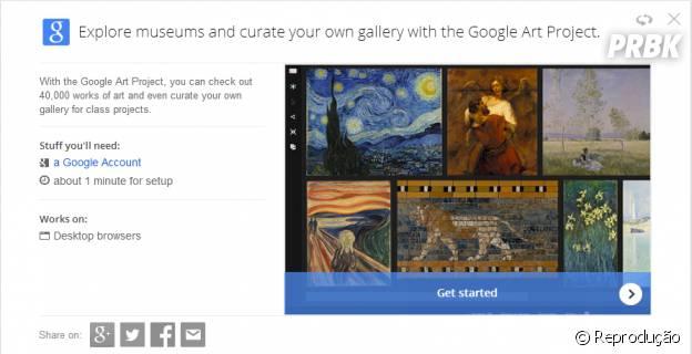 """""""Google Tips"""" ensina você a fazer sua própria galeria de arte pelo """"Art Project"""""""