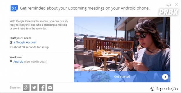 """Google calendário te avisa dos seus compromisso com antecedência, mais uma dica do """"Google Tips"""""""