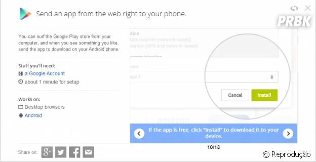"""""""Google Tips"""" ensina a baixar app pelo computador diretamente no Android"""