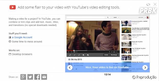 """""""Google Tips"""" te ensina a editar vídeos no YouTube"""