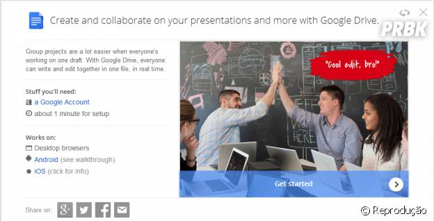 """Aprenda com """"Google Tips"""" como fazer slide, documento de texto ou planilhas com a ajuda de seus amigos pelo """"Google Drive"""""""
