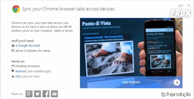 """""""Google Tips"""" ensina a sincronizar o """"Google Chrome"""" em todos os devices"""