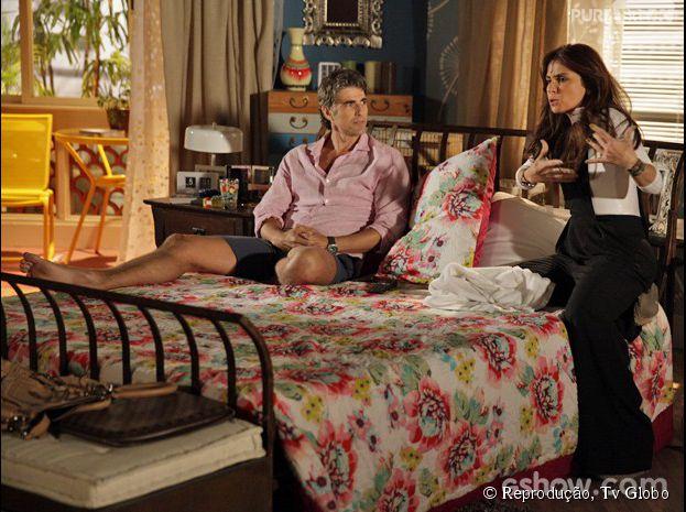 """Cadu (Reynaldo Gianecchini) e Clara (Giovanna Antonelli) discutem tanto que resolvem se separar na novela """"Em Família""""!"""