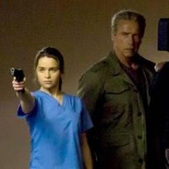 """Emilia Clarke, de """"Game of Thrones"""", em imagens de """"O Exterminador do Futuro 5"""""""