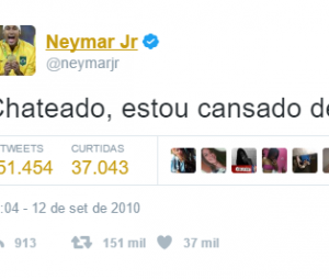 Neymar também fica tristinho