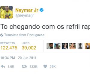 Lá vem Neymar, o rei dos refri!