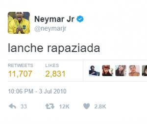 Neymar daqui a pouco tá sem estômago de tanto que come!