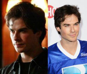 """O antes e depois de Damon (Ian Somerhalder) em """"The Vampire Diaries"""""""