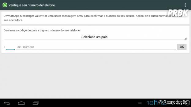 """Confirme o código para configurar o whatsapp """"WhatsApp"""""""