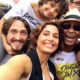 Camila Pitanga esteve lá com a sua família