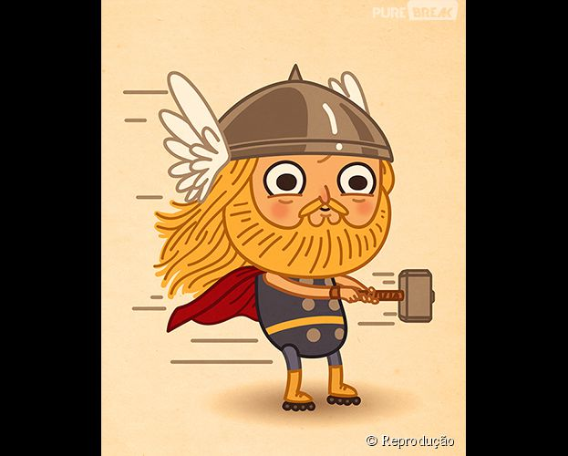 <p>Mike Mitchell escolheu um novo hobby para quando Thor se aposentar: andar de patins</p>