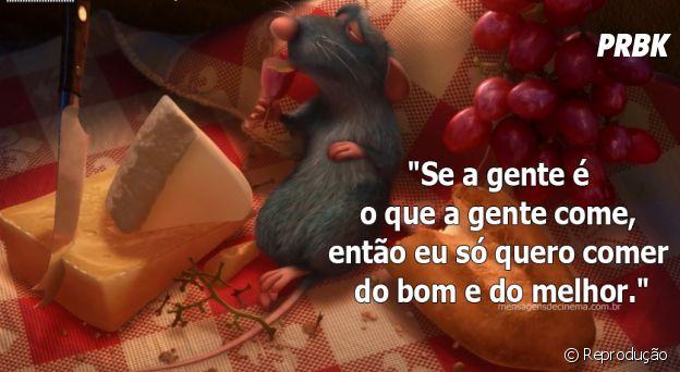 """Touro se identifica com frase do filme """"Ratatouille"""