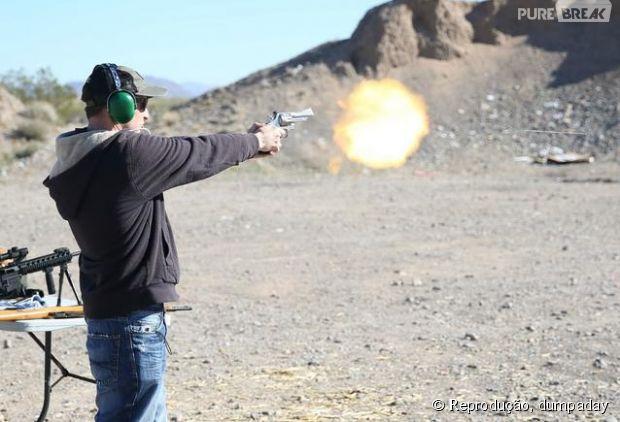 O momento exato do disparo!
