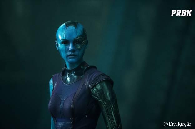 """Karen Gillan como Nebula, vilã de """"Guardiões da Galáxia"""""""