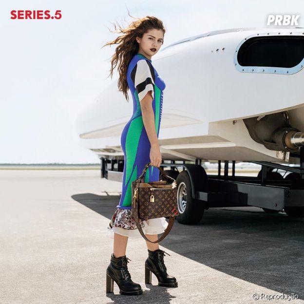Selena Gomez em campanha da Louis Vuitton