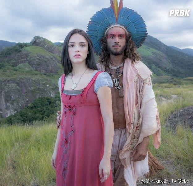 """Em """"Novo Mundo"""": Joaquim (Chay Suede) será preso tentando fugir com Anna (Isabelle Drummond)"""