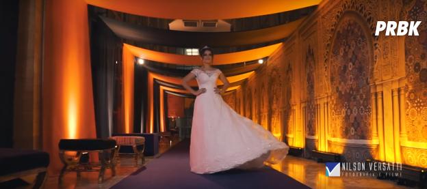 Maisa Silva belíssima com seu vestido de valsa