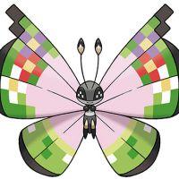 """Em """"Pokemón X & Y"""": uma borboleta colorida voando por aí. Cadê sua pokebola?"""