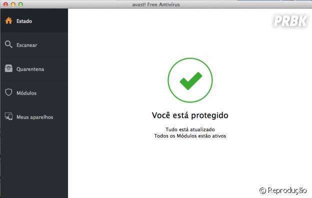 """""""Avast"""" dá sinal verde para confirmar que o PC está protegido"""