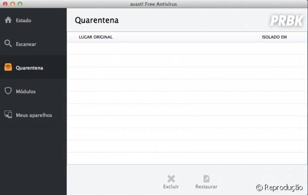 """""""Avast"""" também colocará na """"Quarentena"""" os arquivos infectados"""