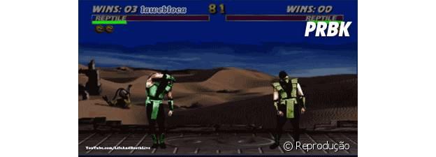 "O chefe secreto Reptile de ""Mortal Kombat"""