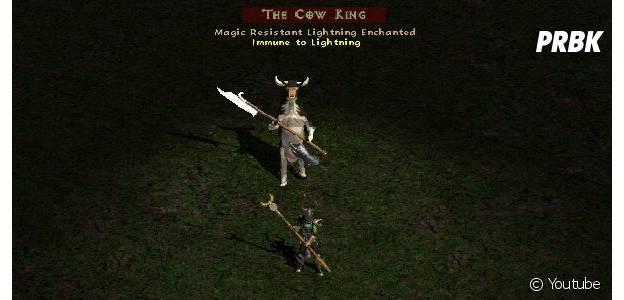 """O nível secreto em """"Diablo 2"""" é uma piada engraçada, cheio de vacas e cim um Cow King"""