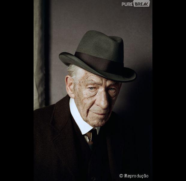 Primeira imagem de Ian McKellen como Sherlock Holmes