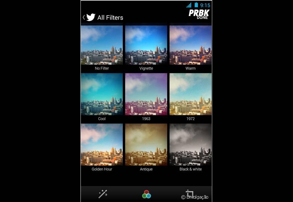 No app do Twitter, é possível postar fotos com filtros similares aos do Instagram