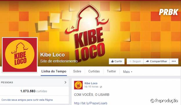 Página do Kibeloco no Facebook